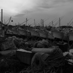 館山港の漁船