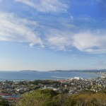 城山から望む北条海岸