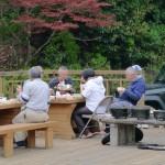 地蔵山野営場でダッチオーブンパーティー