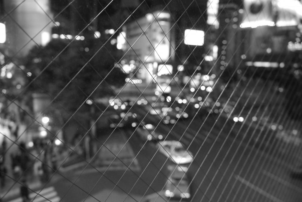 渋谷駅から交差点を望む
