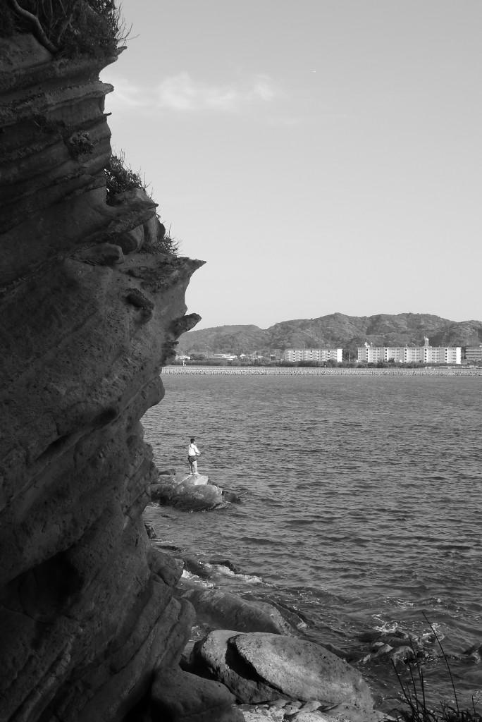 館山 沖ノ島の釣り人
